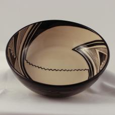Large Glazed Bowl, Mimbres Geometric Design