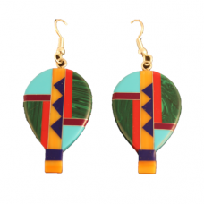 Multicolor Inlay Balloon Earrings