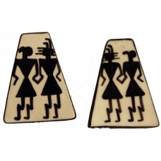 Post Earrings with Southwest Figures