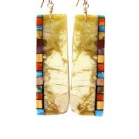 Serpentine Mosaic Earrings