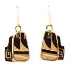 Earrings made with .975 silver and Mata Ortiz pottery