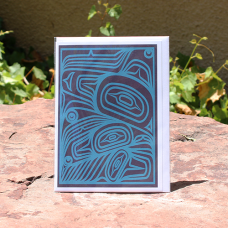 Card, Transforming Raven, Blue