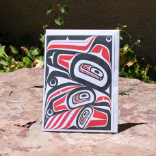 Card, Transforming Raven, Red