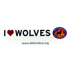 Bumper Sticker: I ♥ Wolves