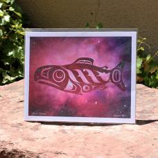 Print, Space Salmon