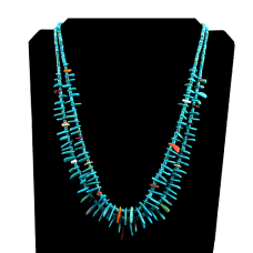 2-Strand Turquoise Beaded Necklace
