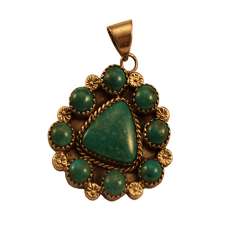 Turquoise Pendant with Chain