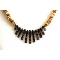 Spotted Obsidian Necklace