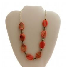 Spiny Oyster Bead Necklace