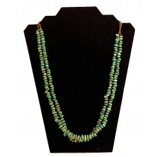 Two Strand Green Turquoise Necklace