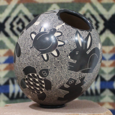 Large Pot with Various Animal Designs