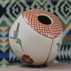 Large Three-Sided Hummingbird Jar