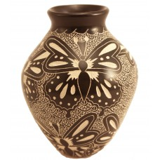 Black Butterfly pot