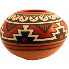 Geometric Style Brown Pot