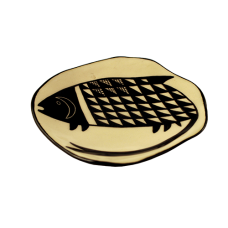 Mimbres-Inspired Fish Plate