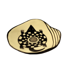 Mimbres-Inspired Turtle Plate